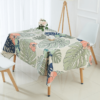 nappe table motif tropical décoration salle a manger