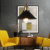 luminaire suspendu en fer et bronze décoration intérieure
