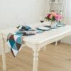 chemin de table style scandinave bleu